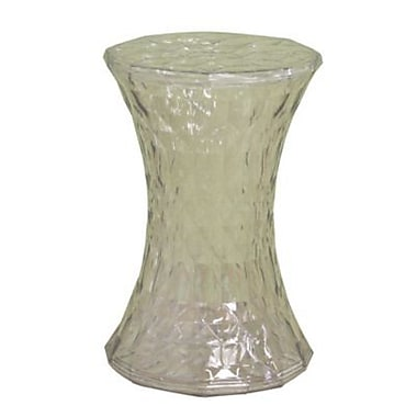 Baxton Studio Acrylic Drum Stool, Clear