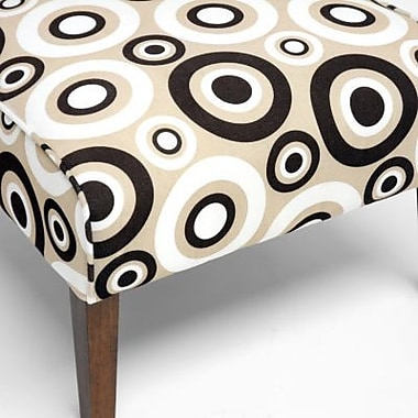 Baxton Studio Davis Fabric Accent Chair, Tan, 2/Set (Acct Lg-109/612)