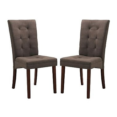Baxton Studio Anne Fabric Modern Dining Chair, Brown
