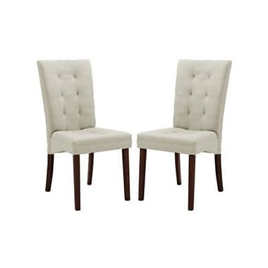 Baxton Studio Anne Fabric Modern Dining Chair, Beige