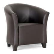 Baxton Studio Jackson Faux Leather Modern Club Chair, Dark Brown