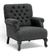 Baxton Studio Joussard Linen Club Chair, Gray