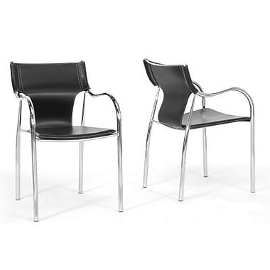 Baxton Studio Harris Faux Leather Modern Dining Chairs