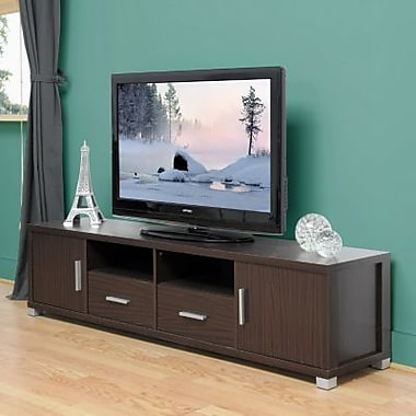 Baxton Studio Chisholm Modern TV Cabinet, Dark Brown