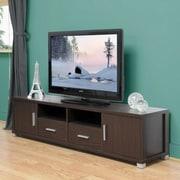 Baxton Studio Chisholm Modern TV Cabinet, Dark Brown