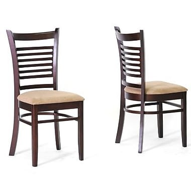 Baxton Studio Cathy Wood Modern Dining Set, Dark Brown