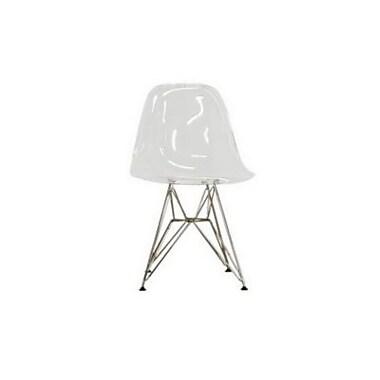 Baxton Studio Rylie Acrylic Armless Accent Chair, Clear (CC-231-Clear)