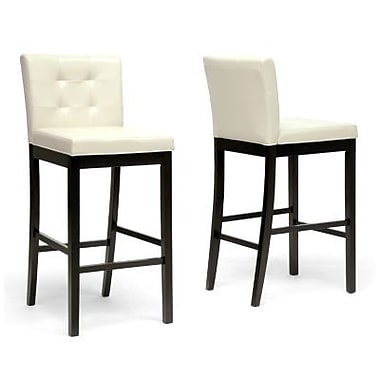 Baxton Studio Prospect Faux Leather Bar Stools