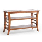 "Baxton Studio Allison 29 1/2"" x 47.3"" x 17.6"" Wood Modern Console Table w/Glass inlay, Honey Brown"