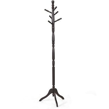 Baxton Studio Oliver Turned Wood Coat Stand, Dark Brown