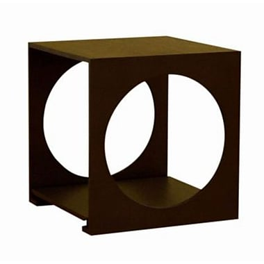 Baxton Studio Circa 18in. x 17in. x 17in. Modern Contemporary Small End Table w/Circles, Black