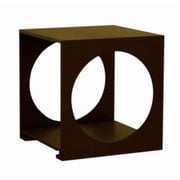 Baxton Studio Circa 18 x 17 x 17 Modern Contemporary Small End Table w/Circles, Black