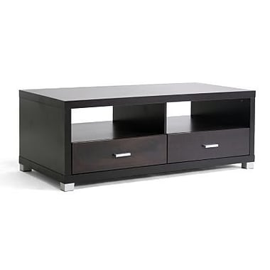 Baxton Studio Derwent Modern TV Stand With Drawers, Dark Brown