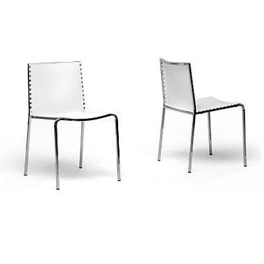 Baxton Studio Gridley Plastic Modern Dining Chair, White
