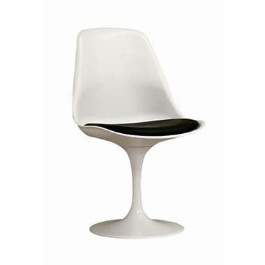 Baxton Studio Tulip Molded Plastic Accent Chair, Elegant White