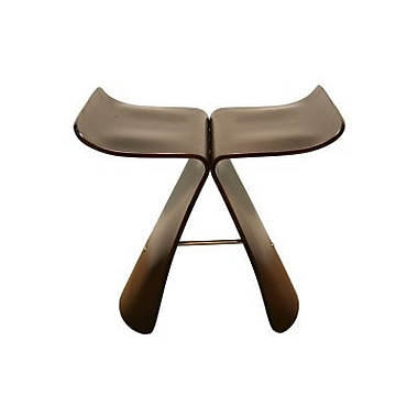 Baxton Studio Butterfly Bent Wood Modern Stool, Brown