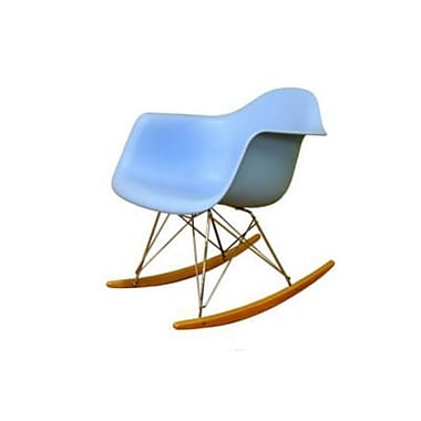 Baxton Studio Chuck Plastic Rocking Chair, Blue