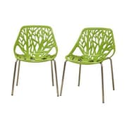 Baxton Studio Birch Sapling Plastic Modern Dining Chair, Green
