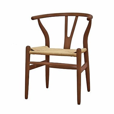 Baxton Studio Wishbone Chair, Dark Brown (DC-541-DK BRN)