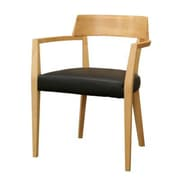 Baxton Studio Laine Faux Leather Modern Dining Chair, Light