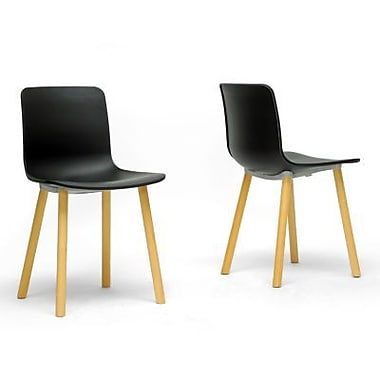 Baxton Studio Plastic Dining Chair, Black