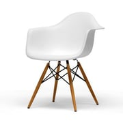 Baxton Studio Pascal Molded Plastic Chair, White