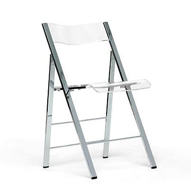 Baxton Studio Acrylic Foldable Chair, Clear
