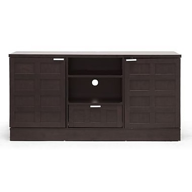 Baxton Studio Tosato TV Stand, Dark Brown