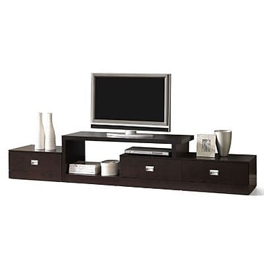 Baxton Studio Marconi Asymmetrical Modern TV Stand, Dark Brown