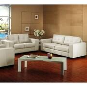 Baxton Studio Leather Sofa Set, Ivory