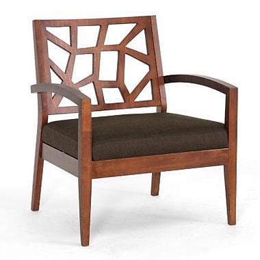 Baxton Studio Jennifer Fabric Lounge Chair, Dark Brown (109/663)