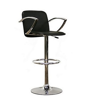 Baxton Studio Carmen Faux Leather Bar Stool, Black