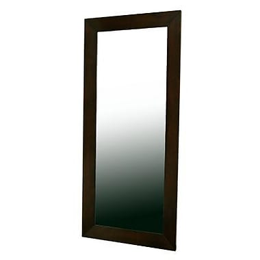 Baxton Studio Doniea Wood Frame Rectangle Modern Mirror, Dark Brown