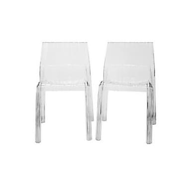 Baxton Studio Charo Acrylic Accent Chair, Clear