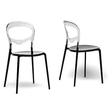 Baxton Studio Acrylic Dining Chair, Black and Clear