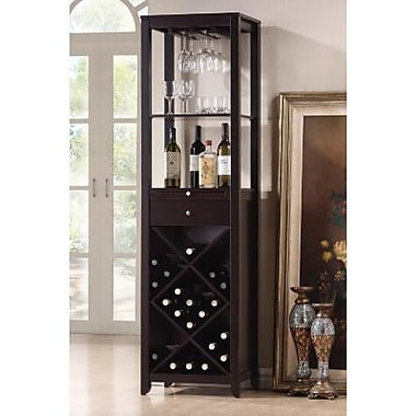 Baxton Studio Austin Wood Modern Wine Tower, Brown