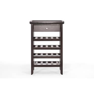 Baxton Studio Atlanta Wood Modern Wine Cabinet, Dark Brown