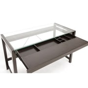 Baxton Studio Idabel Dark Modern Desk, Dark Brown