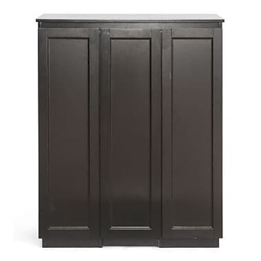 Baxton Studio Baltimore Modern Bar Cabinet, Dark Brown