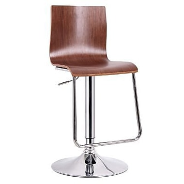 Baxton Studio Lynch Plywood Modern Bar Stool, Natural