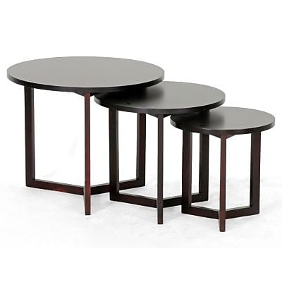 Baxton Studio Hess Modern Nesting Table, Dark Brown 70068