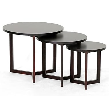 Baxton Studio Hess Modern Nesting Table, Dark Brown
