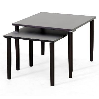 Baxton Studio Shaffer Modern Nesting Table Set, Dark Brown 70063