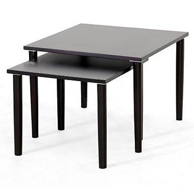Baxton Studio Shaffer Modern Nesting Table Set, Dark Brown