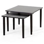 Baxton Studio Shaffer Modern Nesting Table Set, Dark Brown