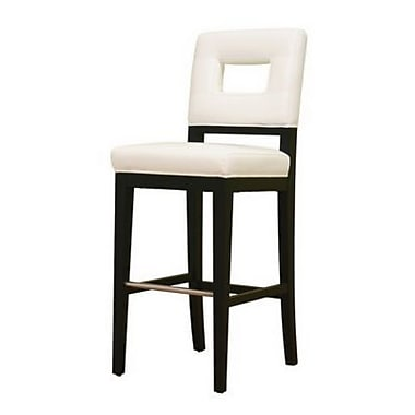 Baxton Studio Donna Leather Bar Stool, White