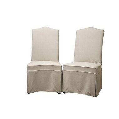 Baxton Studio Coralie Linen Slipcover Effect Dining Chair, Beige