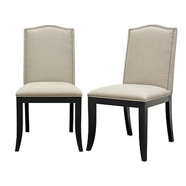 Baxton Studio Baudette Fabric Modern Dining Chair, Beige