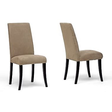 Baxton Studio Tessa Micro Fiber Dining Chair, Cream