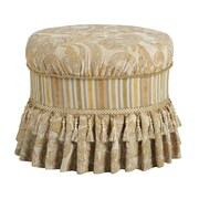 Powell® Bombay Imperial Polyester Fabric Vanity Ottoman